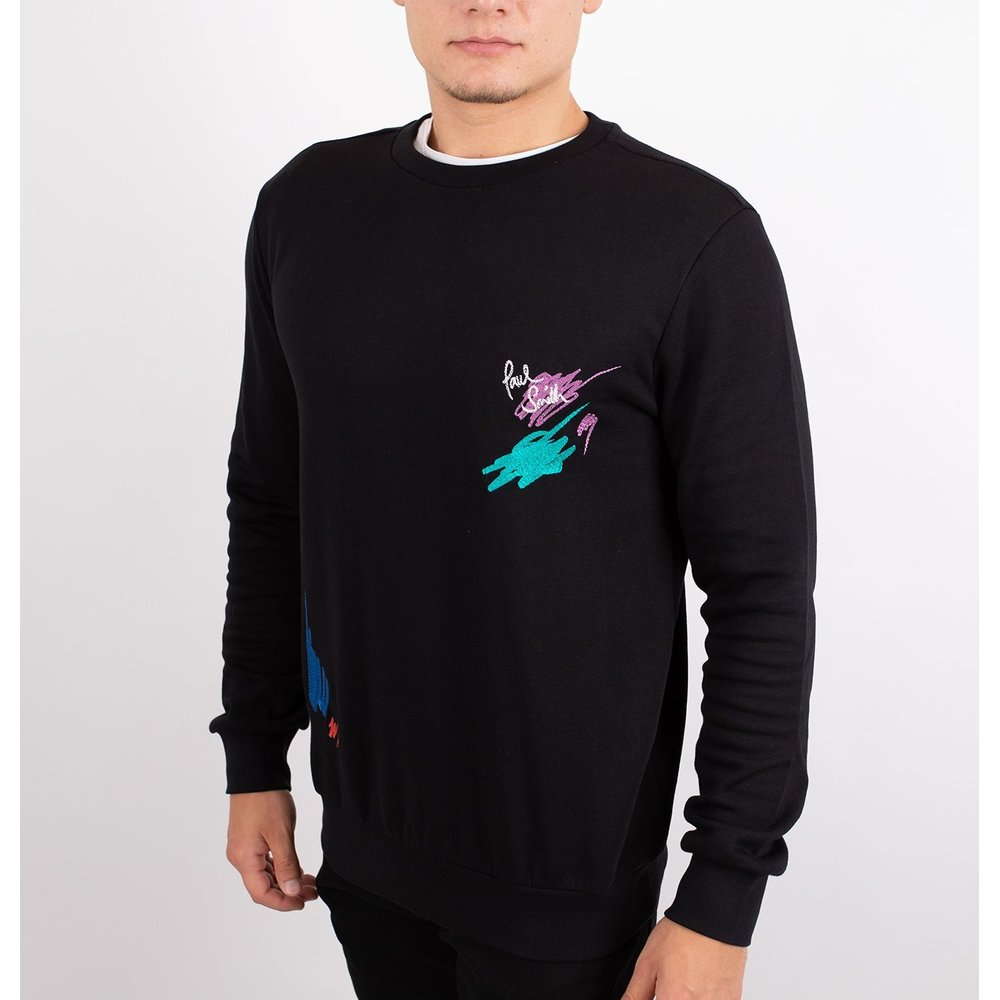 Black Gents Marker Pen Sweatshirt | Paul Smith | Hoodies  sweatvesten | Heren winter kleren