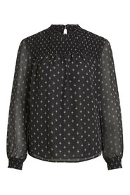 Long sleeved blouse Dotted