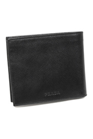 Bi-Fold Saffiano Leather Small Wallet