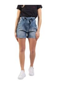 Shorts washed con cintura