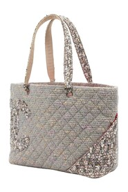 Pre-owned Cambon Ligne Tweed Tote