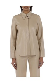 Nahum shirt in faux leather