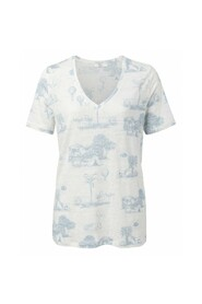 V-neck t-shirt with story print