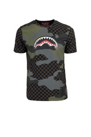 BROWN CAMO SHARK T-SHIRT