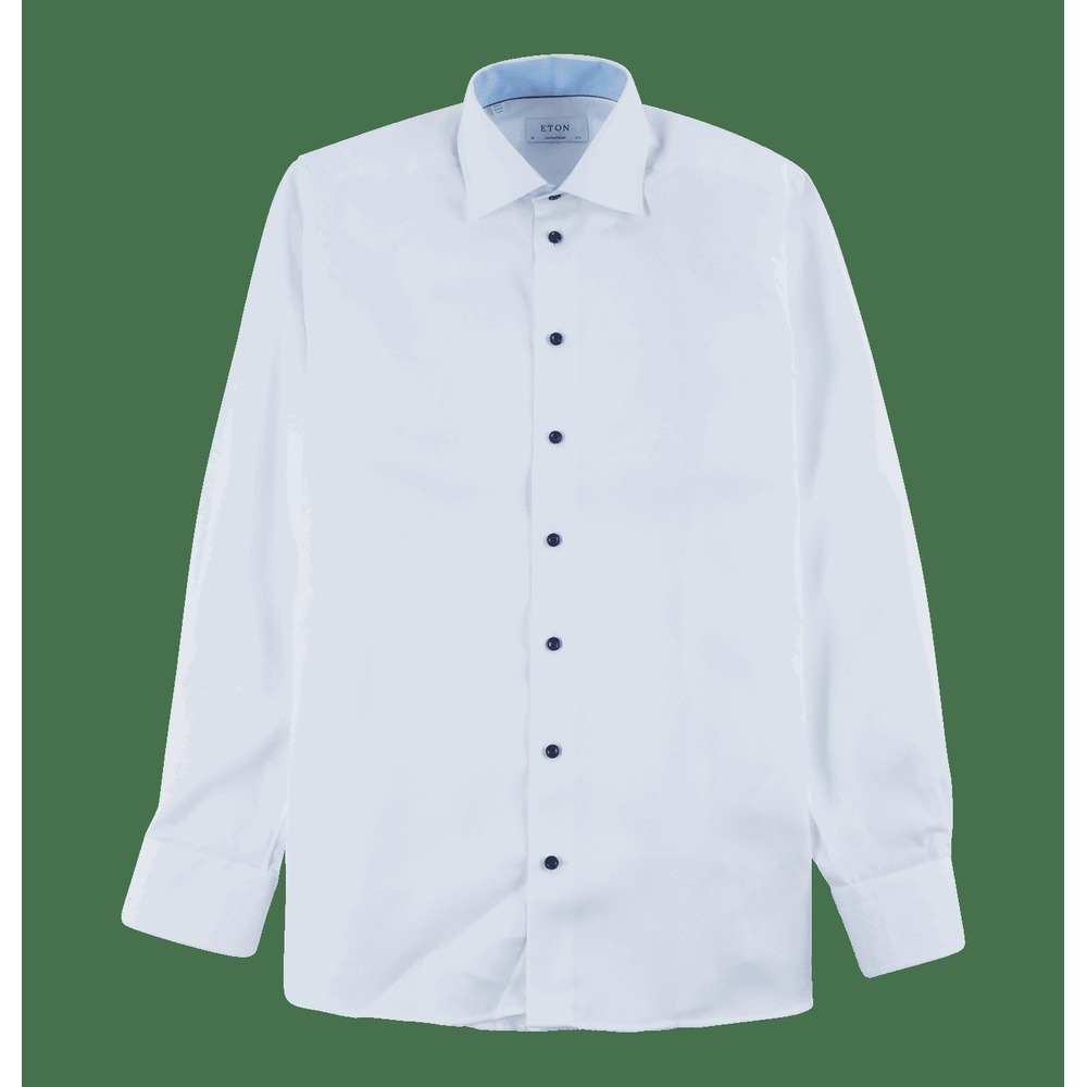 Twill Shirt with Navy Buttons