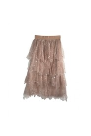 Tulle bohemian skirt with stars
