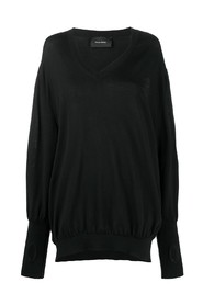 OVERSIZED V-NECK EMBLEM JUMPER