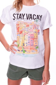 Stay On Vacay Boxy Tee