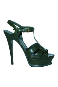 Olive Green Patent Leather Heels