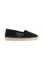 Black cotton espadrilles with logo