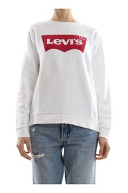 LEVIS 29717 CREW FLEECE BATWING SWEATER Women BRIGHT WHITE