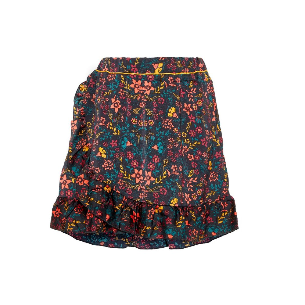 Skirt floral printed ruffle