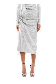 draped lurex skirt