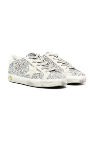Superstar glitter low-top trainers