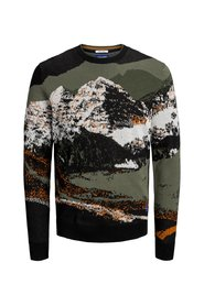 Knitted Pullover Pixelated print