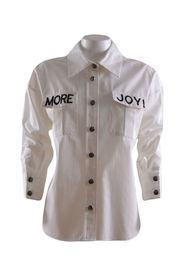 white woman shirt with writing