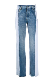 DENIM two-tone jeans