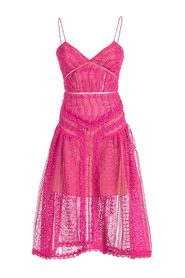 DRESS FUCHSIA SPIRAL LACE PANEL