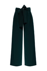 Trousers with tie closure