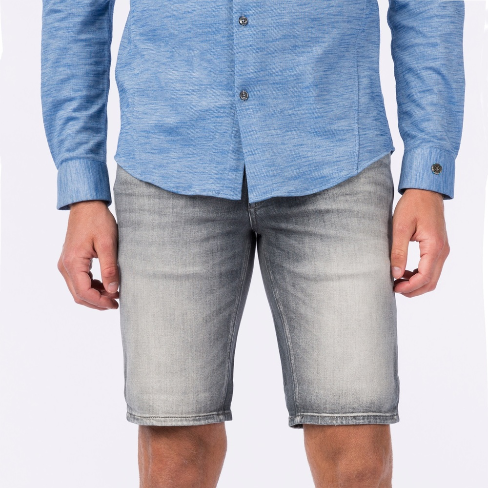 DENIM SHORT STONE WASH GREY
