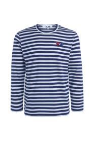 PLAY dobbelt hjerte stribet sweater