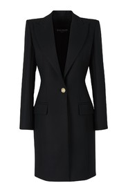 Cross coat with golden buttons