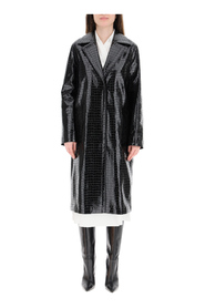 coat in faux leather
