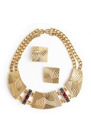 smykker sett halskjede og øreklips