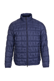Quilted jacket with standing collar