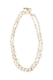 Double Stone Layered Necklace