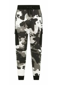 Camouflage jogging pants with patch embellishment