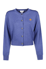 TIGER CREST BUTTONED CARDIGAN