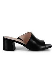 Svart Wonders step in sandal