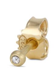 Ear stud, 18 karat guld, 0.01 ct. brilliant