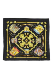 Pre-owned Les Tambours Silk Scarf