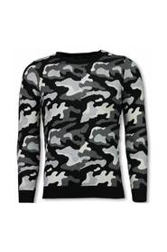 Military Trui - Camouflage Pullover
