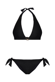 Two-piece swimsuit with logo