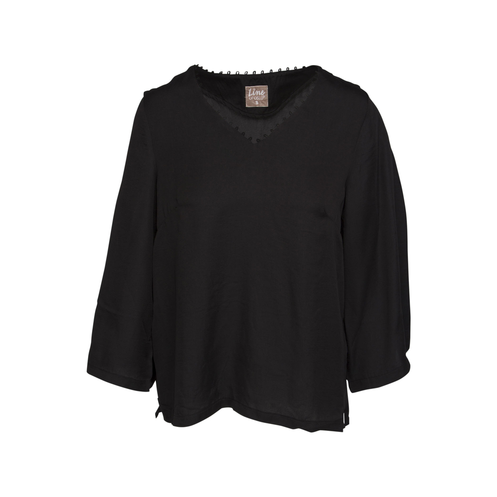 Line of Oslo Top Ruby Black