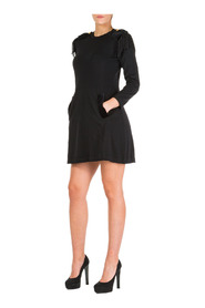 women's short mini dress long sleeve