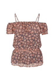 Sort Co'couture AMBER FRILL TOP ORANGE