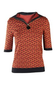 Abstracted Polo Top -Pre Owned Condition Excellent FR40