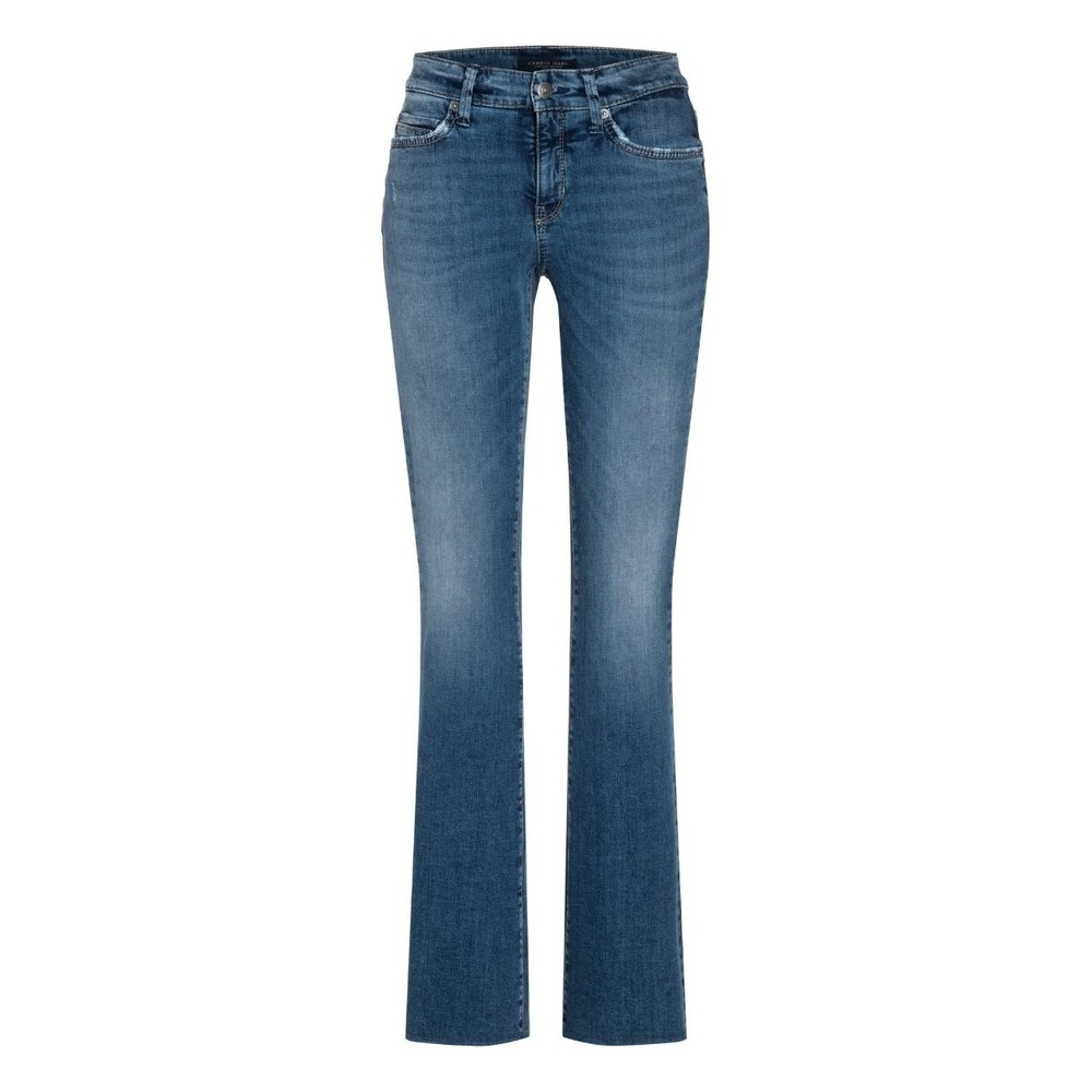Blue Parla Flared med belte Bukser   Cambio   Boot cut Jeans
