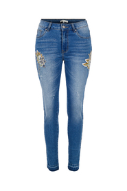 Embroidery detailed denim Haust