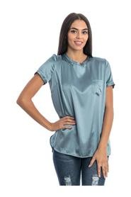 BLOUSE WITH POCKET