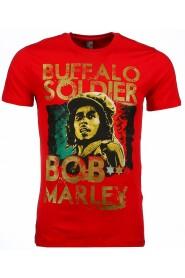 T-shirt - Bob Marley Buffalo Soldier Print