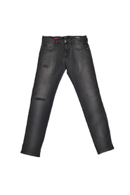 Svart Replay Hyperflex Broken & Repair Jeans