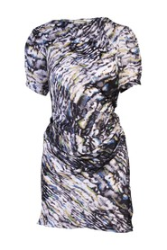 Print Silk Dress -Pre Owned Condition Excellent