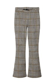 Trousers checked bootcut