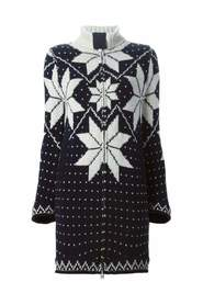 Luck Jacquard Long Cardigan Coat