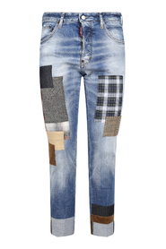 Light Hand Me Down Patch Wash Cool Guy Jeans